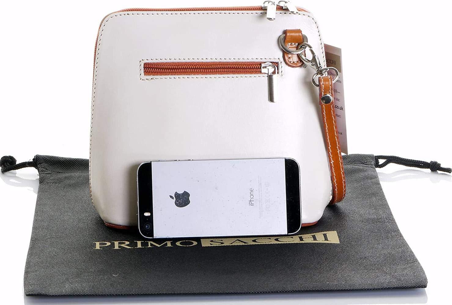 XMJ Damläder handgjord liten/mikro cross-body väska eller axelväska handväska Väskor small Röd Cream &Amp; Tan