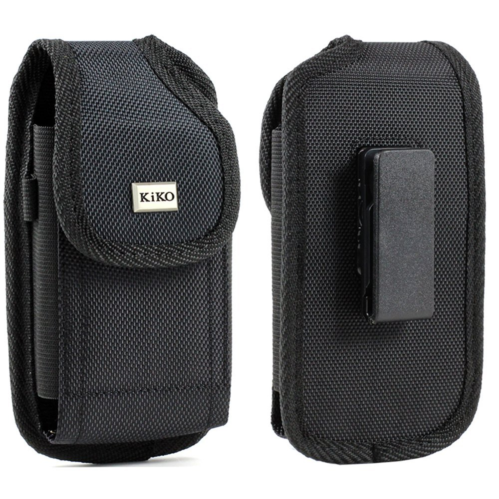 Golden Sheeps Pouch Compatible for Samsung S10 S9 S8 S7,S6, S6 Edge, J3,A5 XXL Size Rugged Nylon Magnetic Closure Belt Clip Holster(Phone with with Bulky Case or Extended Battery case)