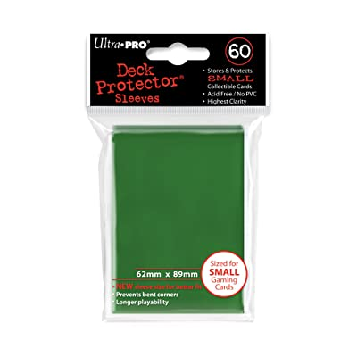 Ultra Pro Card Supplies YUGIOH Deck Protector Sleeves Green 60 Count: Sports & Outdoors