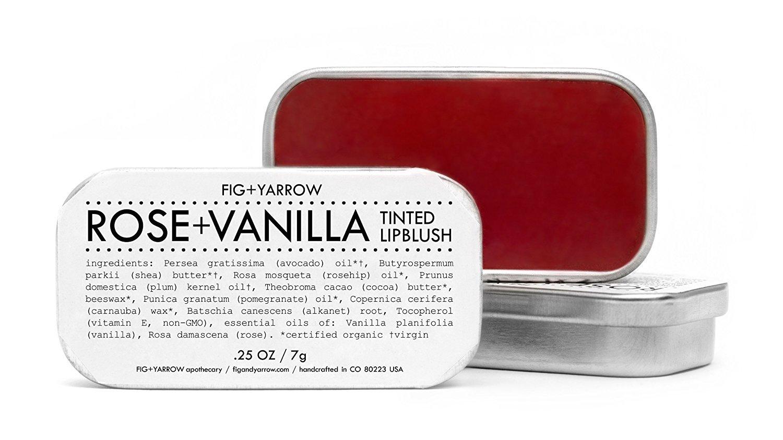 FIG+YARROW Organic Rose + Vanilla Tinted Lip Blush