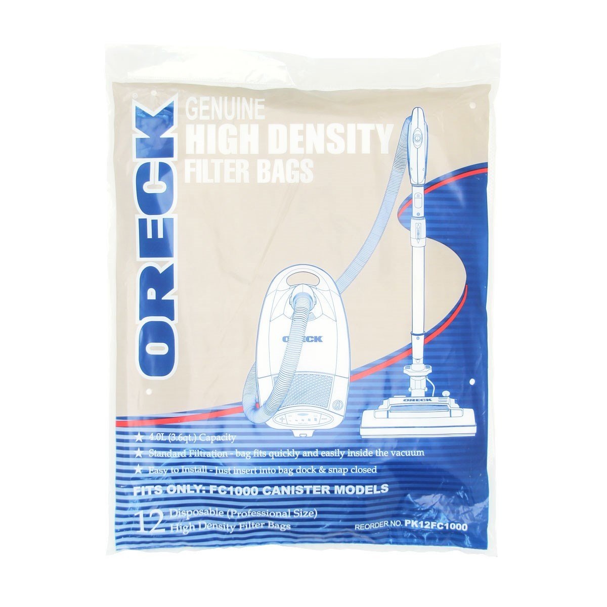 Oreck Quest Pro Bags (12 Pack) by Oreck