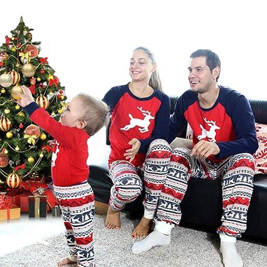 amazoncom family matching christmas pajamas pjs set deer print christmas pajama set for family dad mom kids clothing