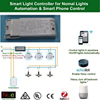 AU/NZ Approved Smart ZigBee in-ceiling light controller for upgrading normal lights and switches to Wireless Home Automation Google Home Amazon Echo Dot Echo Plus Alexa Voice Lighting Control, Compatible with Nue ZigBee Bridge and SmartThings Hub