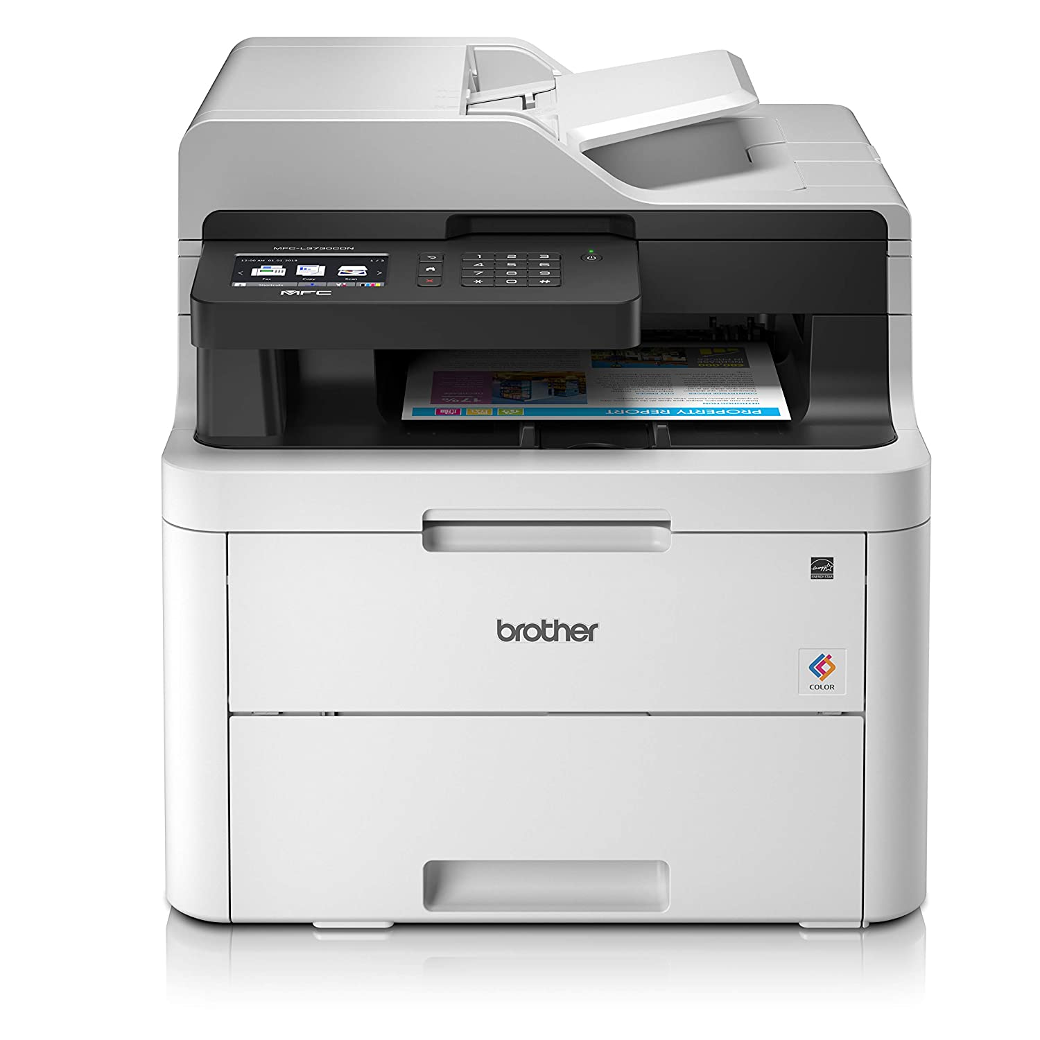 Brother MFC-L3730CDN A4 Colour Laser Printer, PC Connected and Network,  Print, Copy, Scan, Fax and 2 Sided Printing