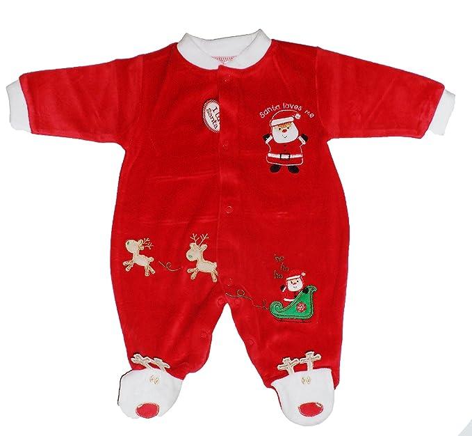 Baby Velour - Traje de dormir de Papá Noel con texto en ...