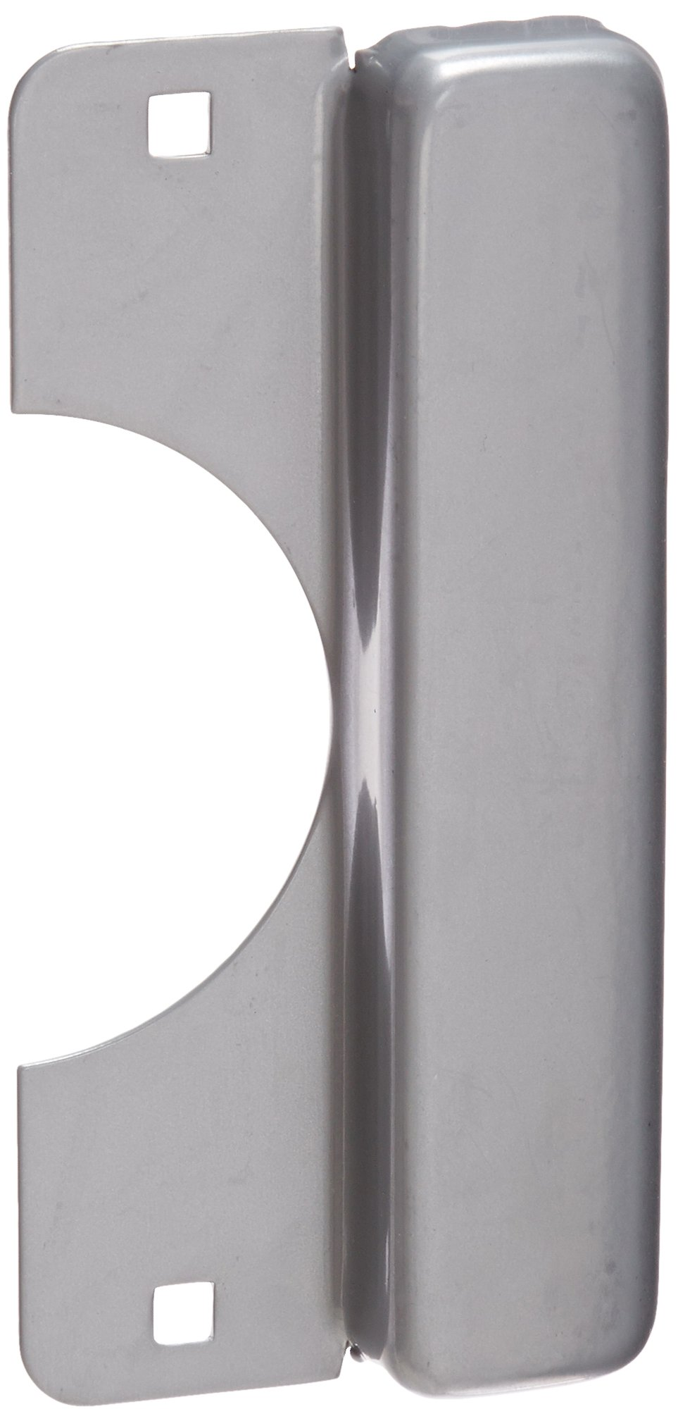 Don-Jo LELP 208 12 Gauge Steel Latch Protector, Silver Coated Finish, 3-1/2'' Width x 8'' Height, For Electric Strikes (Pack of 10)