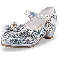 Flickor högklackade skor flickor prinsessa sandaler skor småbarn flicka paljett party pumps