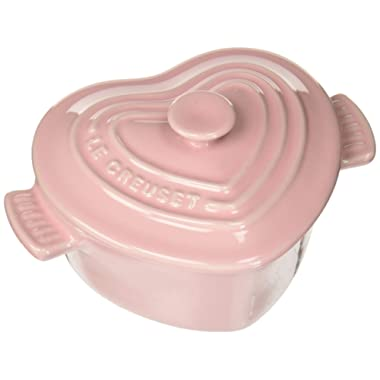Le Creuset PG1160H-1119 Enameled Mini Heart Stoneware cocotte, 8 Ounce, Hibiscus