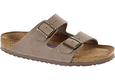 Birkenstock SANDALES ARIZONA SOFT  STEER GRIS TAUPE 1008928 (35-41) TAUPE - Chaussures Mules Homme