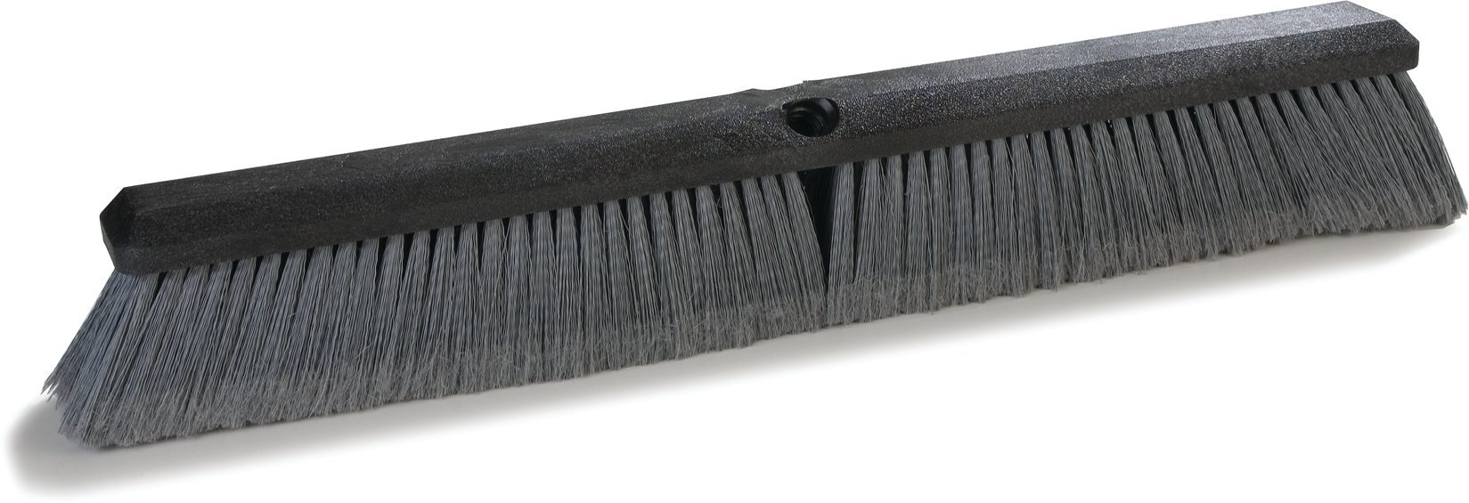 Carlisle 3620481823 Flo-Pac Plastic Block Flagged Floor Sweep, Polypropylene Bristles, 3'' Trim x 2-1/2'' Width Bristles, 18'' Length, Gray (Pack of 12)