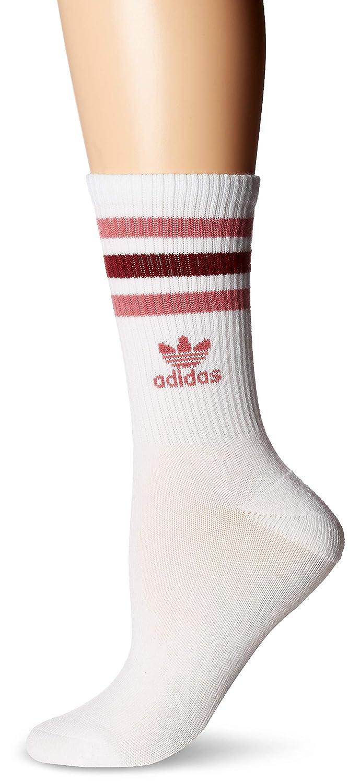 adidas Originals - Calcetines para mujer, diseño de rodillo - 975945, 5-10, White/Trace Maroon Pink/Collegiate Burgundy: Amazon.es: Deportes y aire libre
