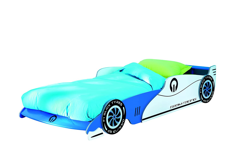 Demeyere Grand Prix Car Bed Wood Blue Single 90 X 190 Cm