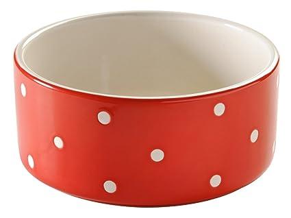amazon com mason cash polka dot ceramic dog bowl 7 inches 64