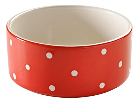 Cat Supplies Inventive Mason Cash Polka Dot Red Bowl Making Things Convenient For The People Dishes, Feeders & Fountains