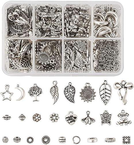 Tibetan Silver Metal Charms Loose Spacer Beads Wholesale Jewelry Making Pendants