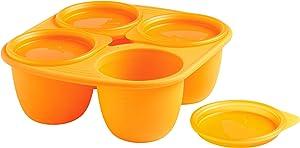 Mastrad Babypods 4 Portions Plus 4 Lids 280 ml, Orange