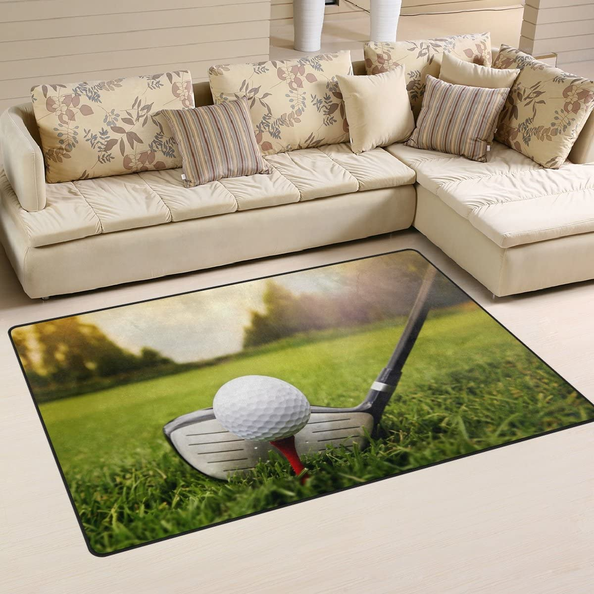 WOZO Golf Cotton Area Rug
