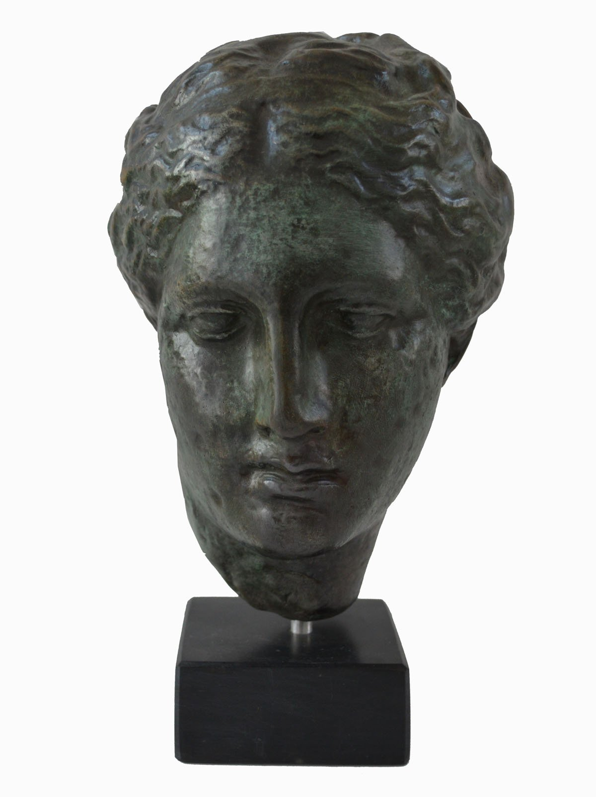 Hygieia bust with bronze color effect - Ancient Greek Goddess of health Hygeia - museum replica by Estia Creations (Image #1)