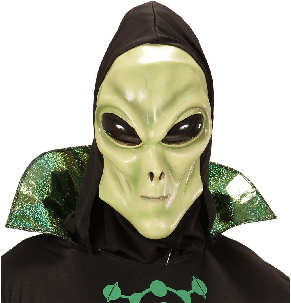 NET TOYS Careta Alien Máscara látex Extraterrestre con Capucha y ...