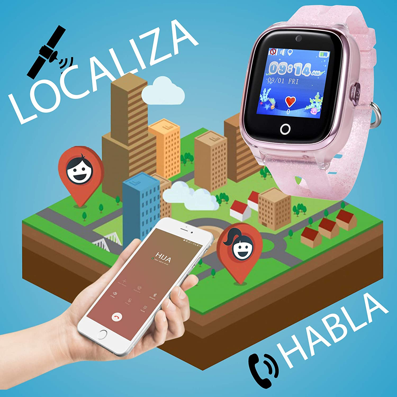 Smartwatch para niños con localizador GPS, Llamadas y cámara ...