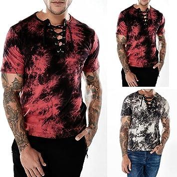 Venmo Camisetas Hombre,Camisetas Hombre Originales,Camisas Hombre,Polos Hombre,Hombres Casual Slim fit Camiseta de Manga Corta Blusa Tops para Hombres: Amazon.es: Deportes y aire libre