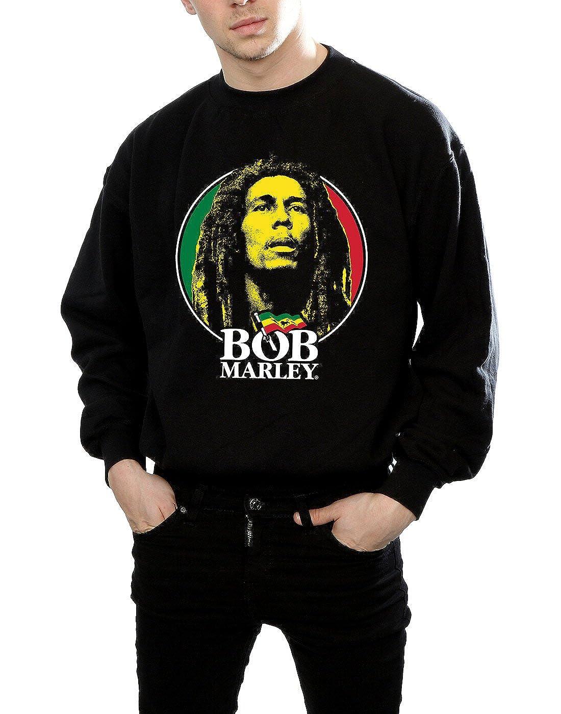 Bob Marley Hombre Logo Badge Camisa De Entrenamiento: Amazon.es: Ropa y accesorios