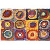 Wassily Kandinsky Farbstudie Quadrate Art Print Poster - 24x36 Poster Print by Wassily Kandinsky, 36x24 Poster Print by Wassily Kandinsky, 36x24
