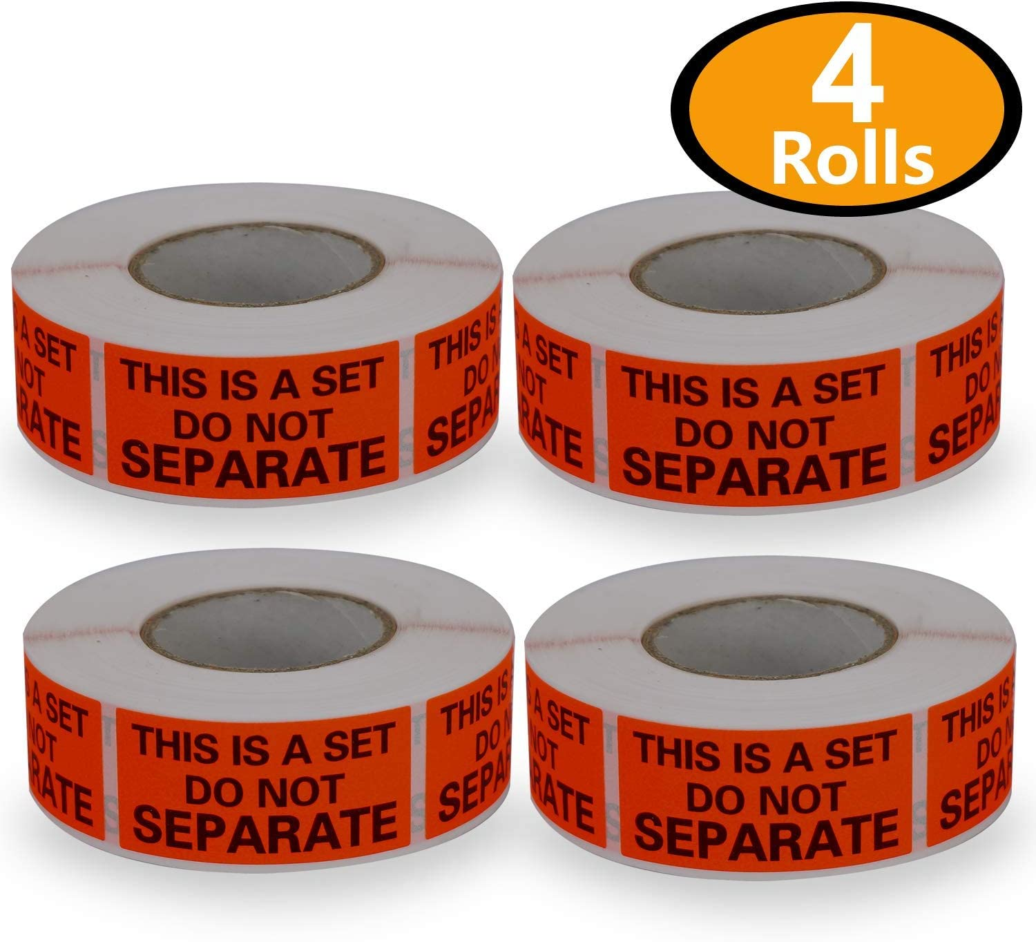 25mm x 50mm 4 Rolls//2000 Labels,This is a Set Do Not Separate,Fluorescent Red FBA Packing Labels