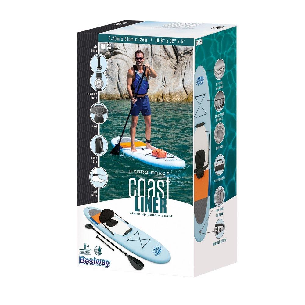 Tabla de Paddle Surf y Kayak Hinchable con Todos los complementos incluidos de 320x81 cm. - LOLAhome: Amazon.es: Hogar
