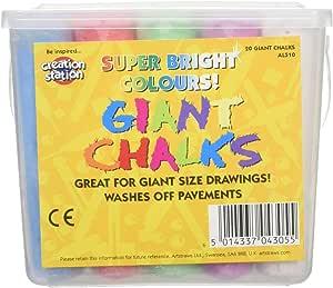 Artstraws Ltd AL510, Tizas gigantes, Colores surtidos, Pack de 20 piezas: 20 Giant Chalks: Amazon.es: Juguetes y juegos