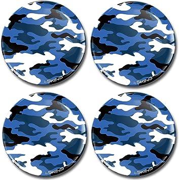 Biomar Labs 4 X 65mm Aufkleber 3d Silikon Camouflage Blau Für Radkappen Nabenkappen Radnabendeckel Rad Aufkleber Nabendeckel A 2165 Küche Haushalt