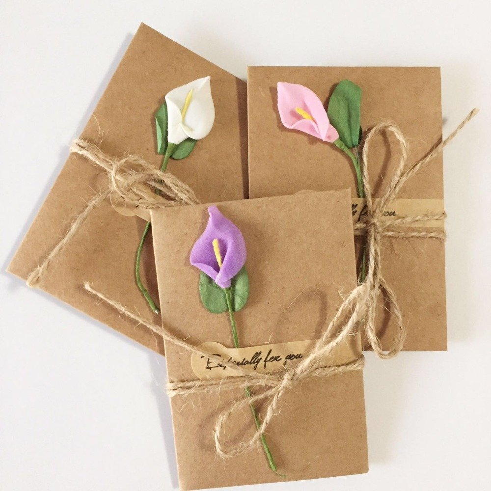 Handmade Flower Ornament Blank Card Set