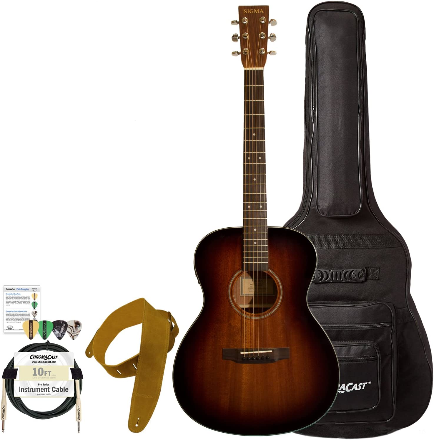 Sigma guitarras sd15eshb-kit 2 guitarra electroacústica guitarra ...