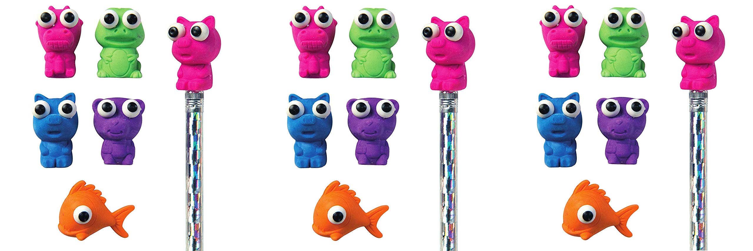 Raymond Geddes Here's Looking at You Eraser Pencil Toppers, Set of 50 (69005) (Тhree Pаck, Assorted) by Raymond Geddes (Image #1)