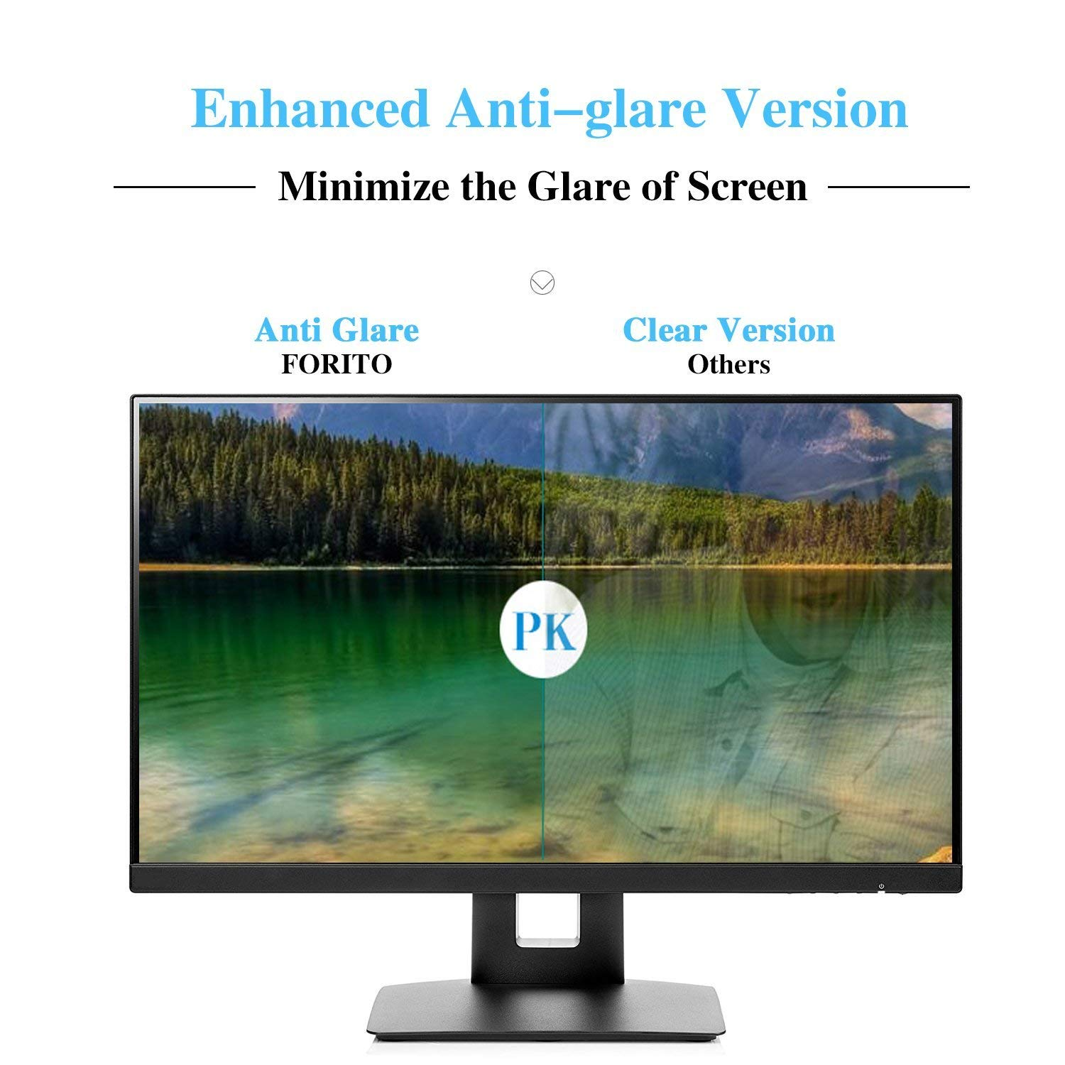 Size: 16.1 x 10.1 WxH Matte FORITO 2-Pack 19 Anti Glare Screen Protector Compatible with 19 Dell//ASUS//Acer//ViewSonic//Samsung//Aoc//HP Widescreen Desktop Monitor with 16:10 Aspect Ratio Screen
