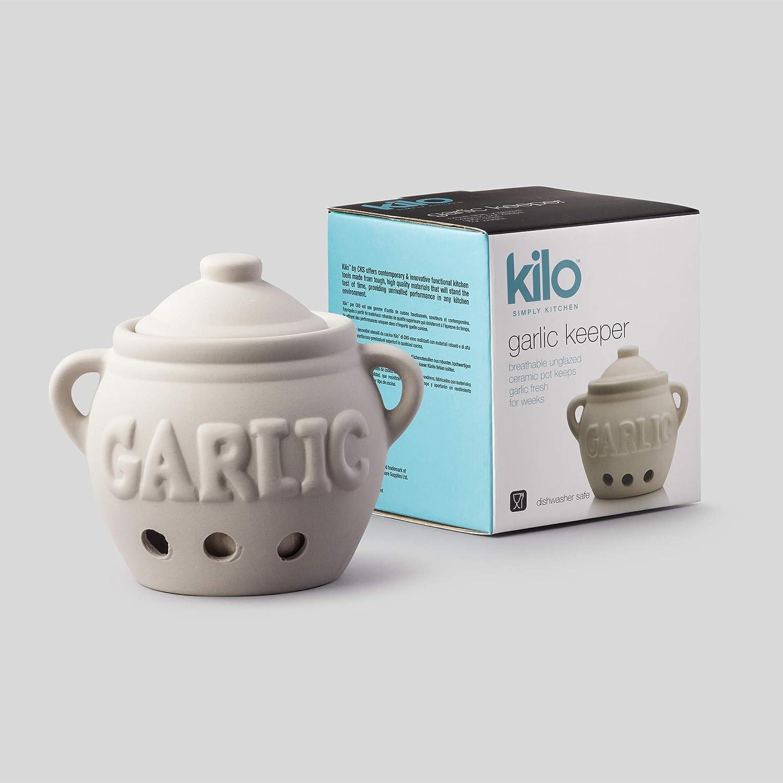 Olla De Almacenamiento De Porcelana ajo blanco fresco aire tradicional Bombillas tienda Keeper agujero