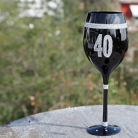 Framan Copas de Vino Color Negro con números para ...