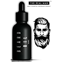 The Real Man Dark Classic 100 Percent Organic Beard and Moustache Oil, 30ml