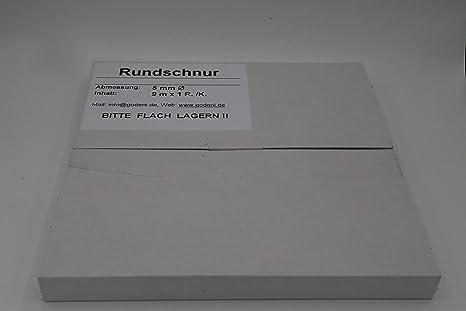Cuerda redonda de butilo 5 mm de di/ámetro x 9 m gris