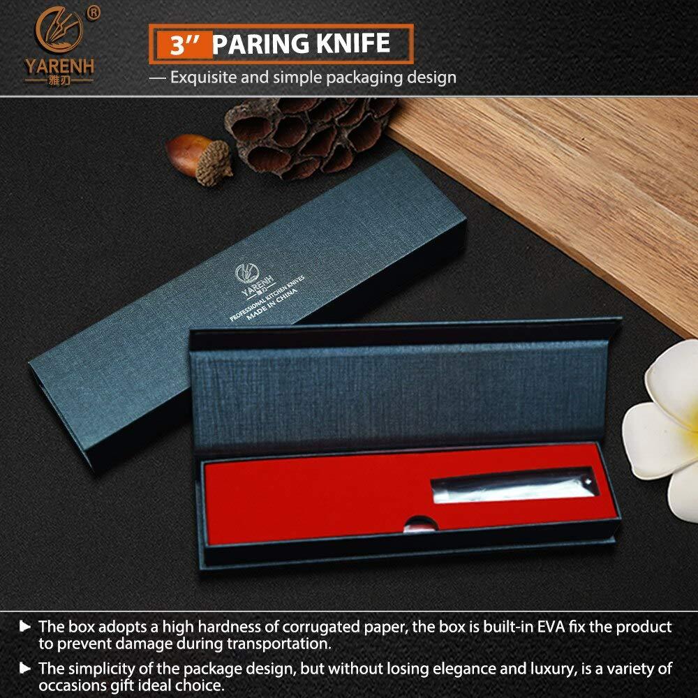 Best Quality Kitchen Knives 3 inch Paring Knife Japanese VG10 Damascus Steel Kitchen Knife with Ebony wood handle Razor Sharp Fruit Peeling Knife by Tini