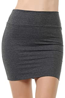 4328a7b8b Fashion Aktiv Basic Double-Layer Cotton Simple Stretchy Tube Pencil Mini  Skirt