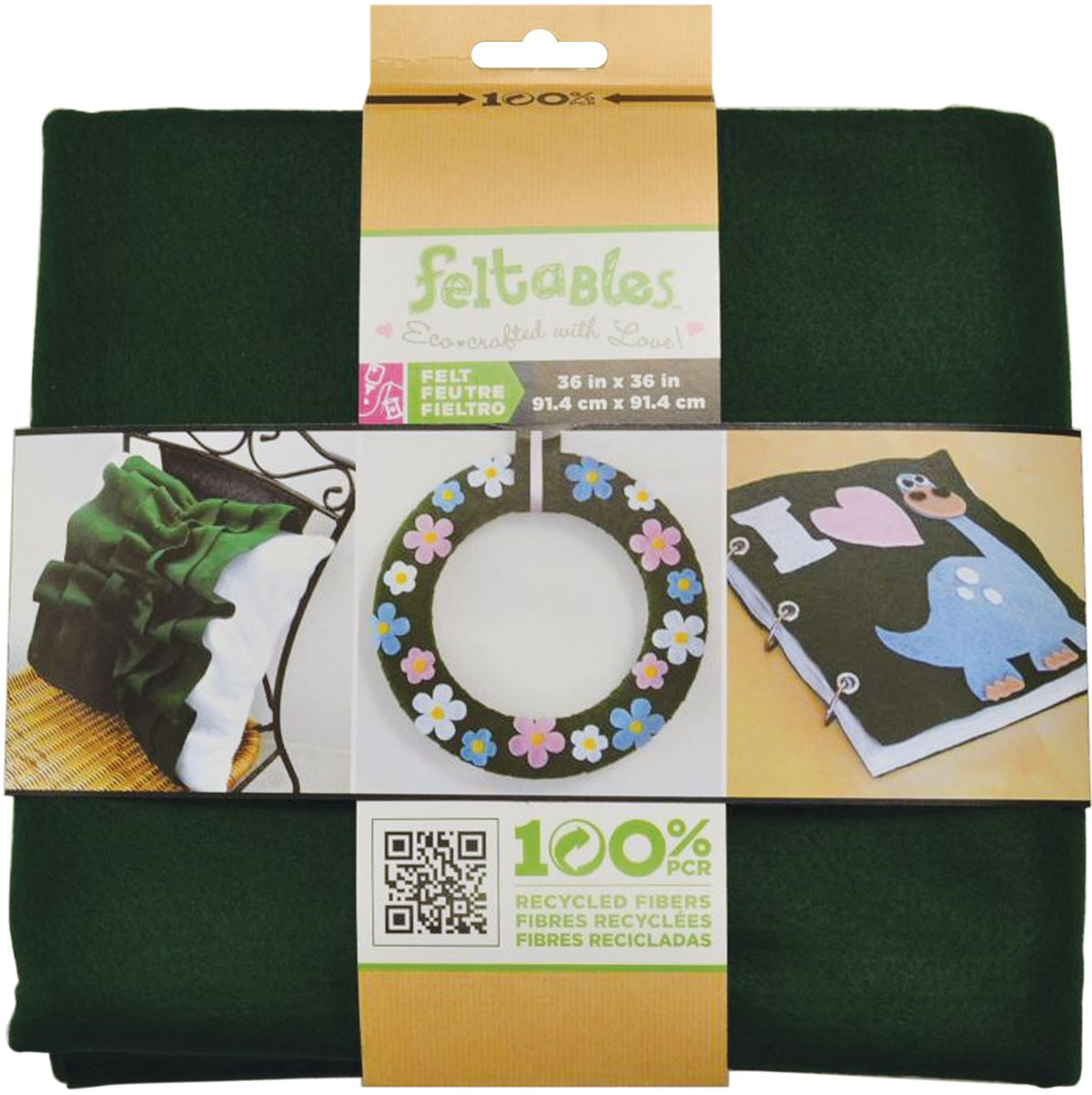 New Image Group Feltables Craft Pack Felt, 36 x 36-Inch, Kelly Green