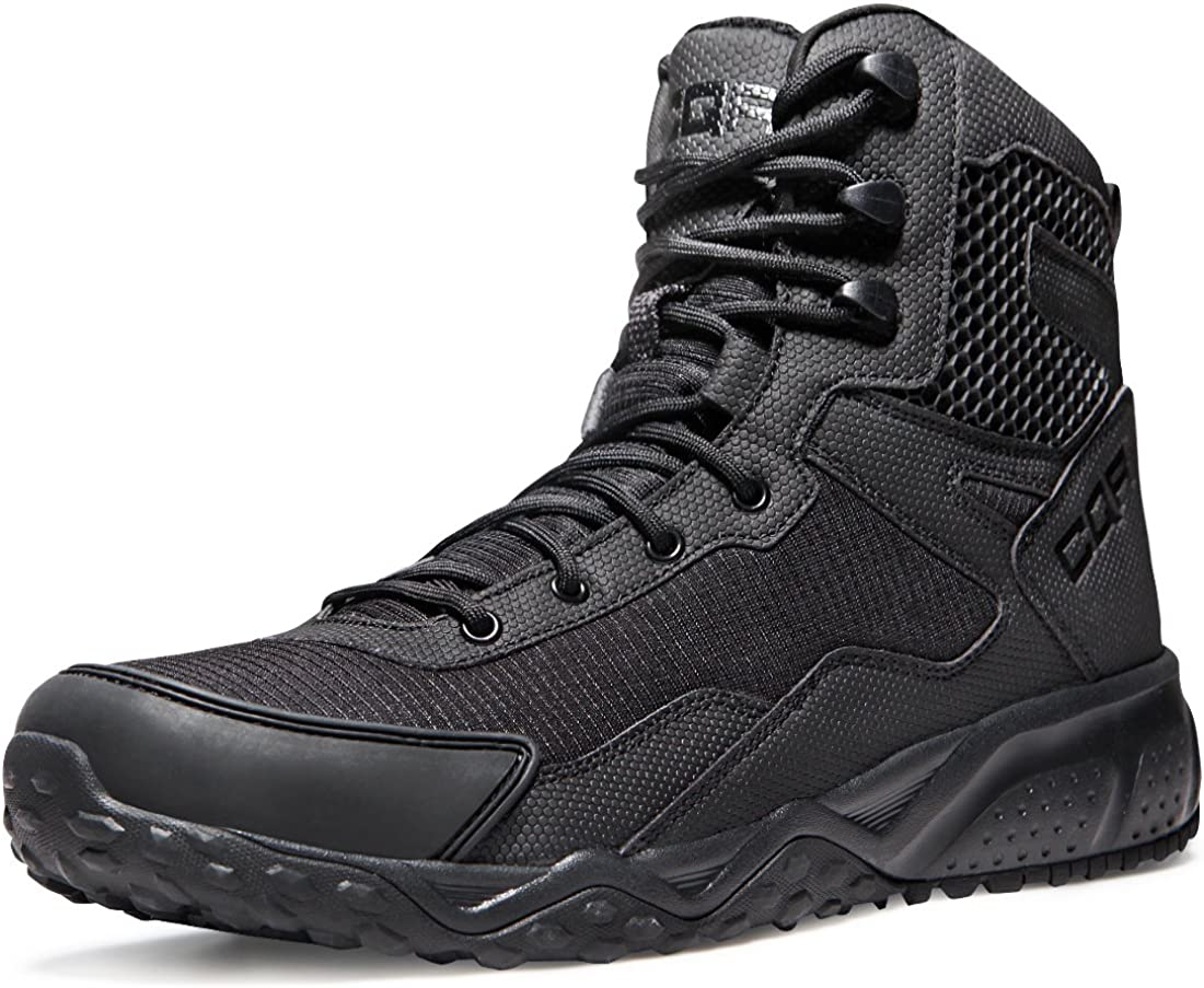 CQR Men's Military Tactical Boots, Water Repellent Lightweight Mid-Ankle Combat Boots, Durable EDC Outdoor Work Boots: Shoes