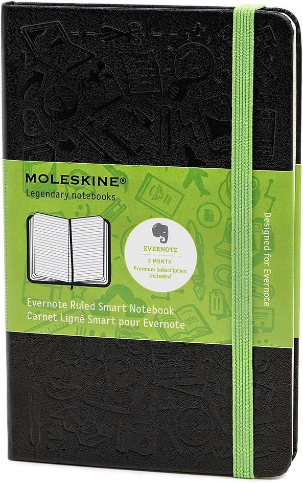 Moleskine Evernote - Cuaderno Smart, tamaño bolsillo, color negro ...