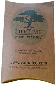 Valhalla Wood Preservatives 5-Gallon Eco Friendly Non Toxic Lifetime Wood Treatment Pouch