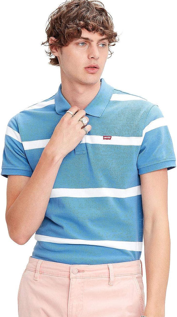 Levis Standart HM Good Polo - Polo para hombre (100% algodón, tallas: S, M, L, XL y XXL), diseño a rayas, color azul: Amazon.es: Ropa y accesorios