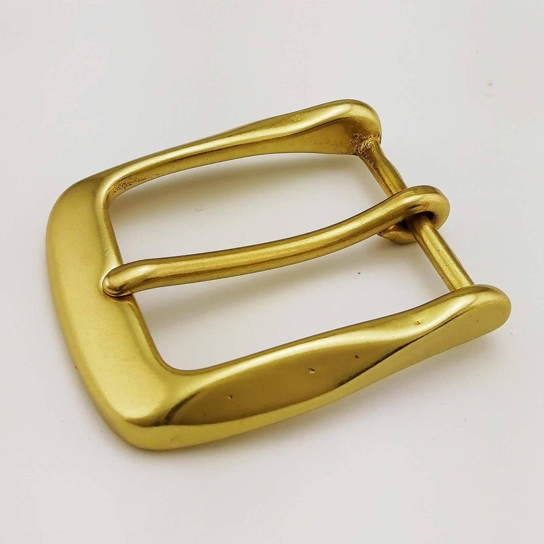 """1/"""" Solid Brass Round Style Belt Buckle"""