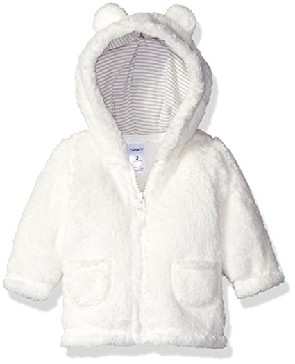 685c3226d Amazon.com  Carters Unisex Baby Hooded Sherpa Jacket (9 Months ...