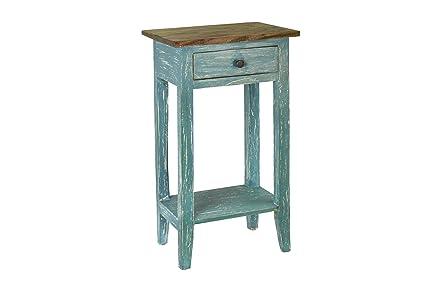 Antique Revival Avignon Side Table, Blue