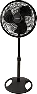 "Lasko 16"" Wide Area Oscillation Pedestal Fan, Black"